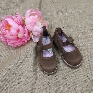 7a98317557143 GAP Shoes - Baby Gap Brown w  Pink Mary Jane Shoes Girls Sz 5